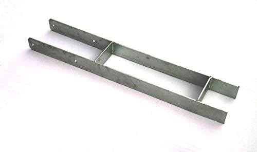Großer H-Pfostenanker für 140mm Holzpfosten Pfostenträger ist 800mm lang Pfostenhalter H-Pfostenanker verzinkt für Holzpfosten und Holzbalken (140mm x 800mm)