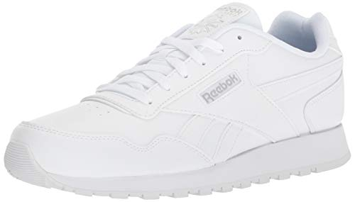 Reebok mens Reebok Classic Harman Run Casual Sneakers, White/Steel, 10.5 US