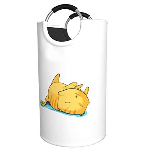 Sunmuchen Cesta de lavandería para dormir, impermeable, grande, organizador para ropa, juguetes, dormitorio, baño, con asas de aluminio