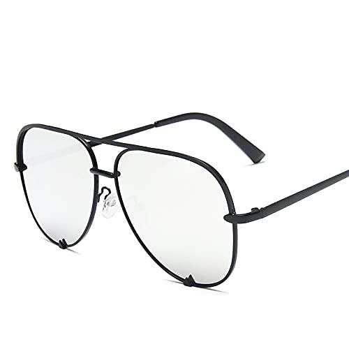 ShSnnwrl Gafas De Moda Gafas De Sol Gafas De Sol De Piloto para Mujer, Gafas De Sol Clásicas para Hombre, Conducción Al Aire Libre Vintage, C8Silver