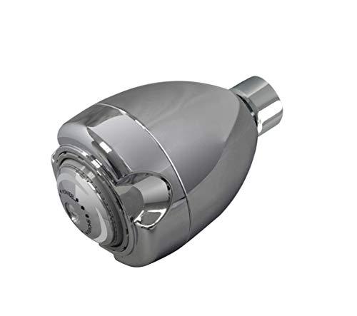 N2915CH-TP - Alcachofa de ducha fija (1,5 GPM, 3 pulverizadores, resistente a las manipulaciones, cromada)