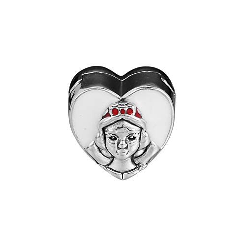 Diy Cartoon Princess Portrait Clip Beads For Charms Bracelets Women Sterling Silver 925 Beads For Jewelry Making Mixed Enamel