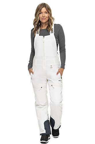 Arctix Women's Traverse Bib Recycle, White, Small (4-6) Regular