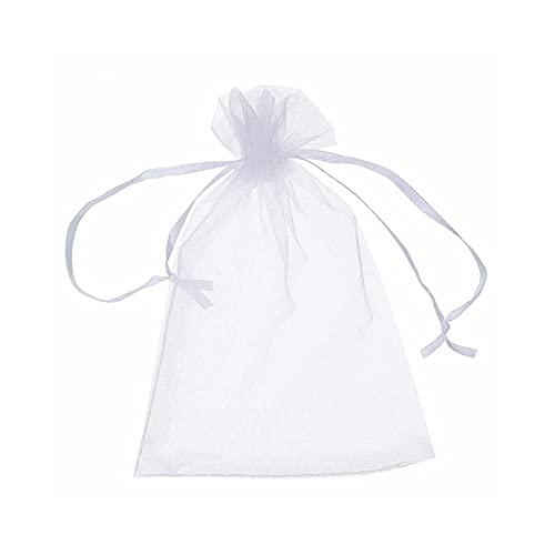 Bolsitas pequeñas de organza, 100 unidades Sheer Organza, bolsa de regalo para joyas, 13 x 18 cm, con cordón, bolsa para caramelos, bolsa de regalo, tela,