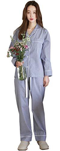 パジャマ 綿100% メンズ レディース ルームウェア ペア 夫婦 長袖 上下セット チェック柄 吸汗 通気 肌に優しい 部屋着 春・夏・秋・冬用