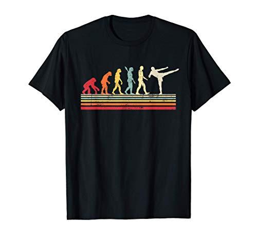 Kick Boxing Evolution of Man Vintage Retro Women Gift Camiseta