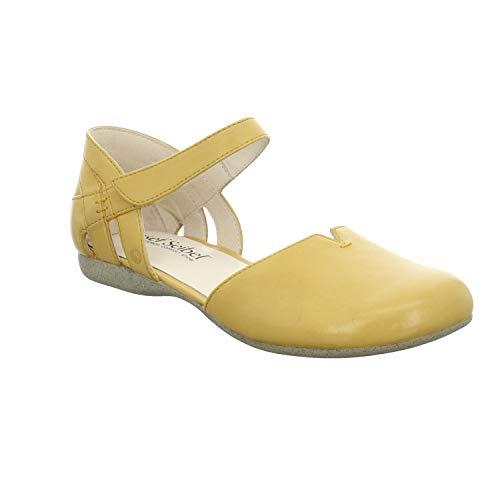 Josef Seibel Damen Ballerinas Fiona 67, Frauen Riemchenballerinas, leger Mary-Jane Halbschuhe Sommerschuhe weibliche Lady Ladies,gelb,42 EU / 8 UK