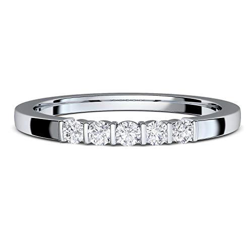 ***Verlobungsring Zirkonia Silber von AMOONIC mit Zirkonia Stein Ring Damenring mit LUXUSETUI für Damen Frauen Freundin Heiratsantrag Silberring Solitär Silber 925 Diamant FF583SS925ZIFA60