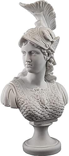 WQQLQX Statue Griechische Göttin der Kriegsstatue Athena Skulptur Weisheit und Gerechtigkeit Büste Figuren Home Decorations Desktop Dekoration Kunst Geschenke Skulpturen