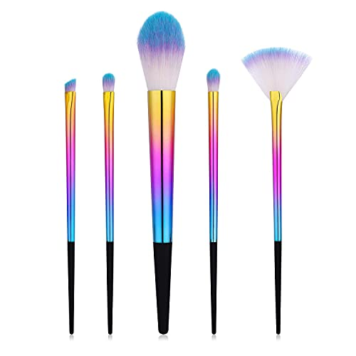 Monnstar Juego de brochas de maquillaje profesional, base líquida, colorete, corrector, sombra...