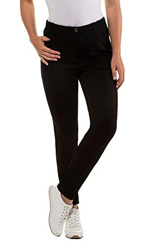 GINA LAURA Damen bis 50, Basic-Jeans, Slim-Fit, bequemer Stretch-Bund, Normale Leibhöhe, schwarz 42 707957 10-42