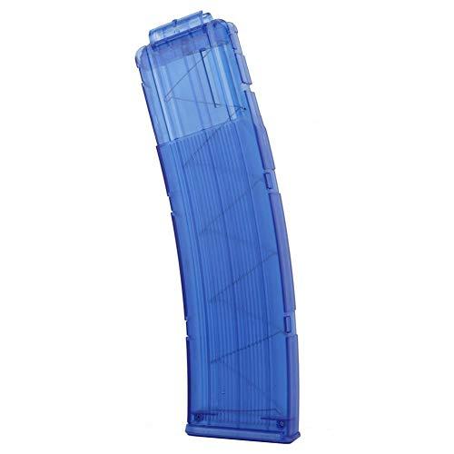 Bullet Clip para NERF compatible universal 22-Loaded Bullet Clip Toy Gun accesorio Bullet Clip sin bullet bloqueo. azul azul