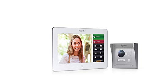 Goliath IP Video Türsprechanlage, Aufputz, HD Türstation, Edelstahl, App mit Türöffner Funktion, 10 Zoll Touchscreen, WiFi, 1 Familienhaus