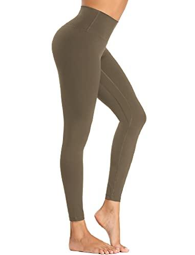Beelu Damen Nahtlose Leggins Blickdicht Frauen Hohe Taille Slim Fit Seamless Fitnesshose für Workout Gymnastik Yoga Stretchhose(Grün L)