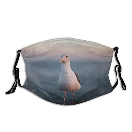Máscara facial de moda cómoda plumas de gaviota piernas de pájaro a prueba de sol moda Bandana Headwear para la pesca