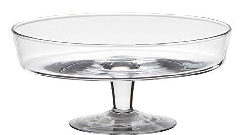 Glasschale auf Fuß Cylinder H. 10,5cm D. 24,5cm rund transparent Hakbijl