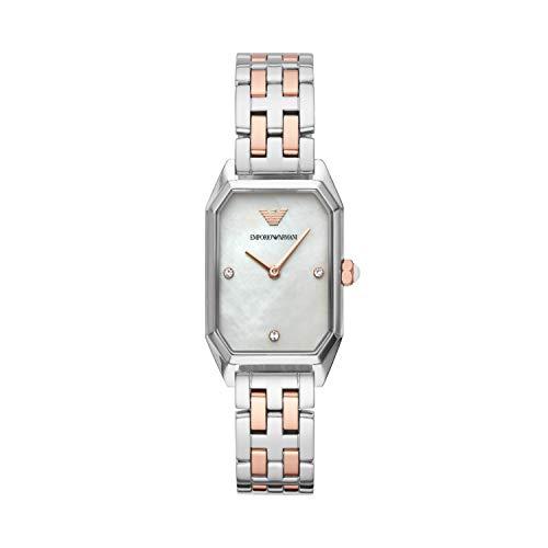 Emporio Armani Damen Analog Quarz Uhr mit Edelstahl Armband AR11146