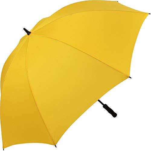 iX-brella - Ombrello da golf in fibra full-fiber XXL, 130 cm, leggero e resistente alle tempeste con impugnatura morbida, 100x2,6/1,0x32mm Z=30 ES R (Giallo) - .