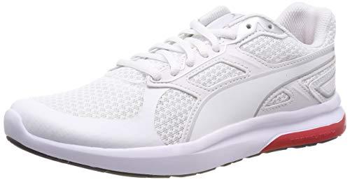 Puma Unisex-Erwachsene Escaper Tech Fitnessschuhe, Weiß (Puma White-Silver-High Risk Red), 42 EU (8 UK)