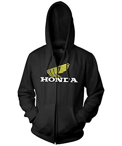 Honda Collection Casual con cremallera Sudadera con capucha, nombre distinto: negro, tamaño: Md, color primario: negro, género: mens/unisex 54–7151