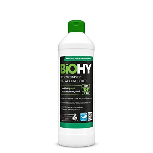 BiOHY Bodenreiniger für Wischroboter (500ml Flasche) | Konzentrat für alle Wisch & Saugroboter mit Nass-Funktion | nachhaltig & ökologisch