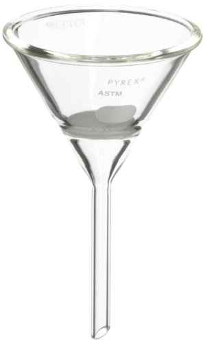 Corning Pyrex Borosilicate Glass Hirsch Funnel with Medium Porosity Fritted Disc, 30mm Diameter