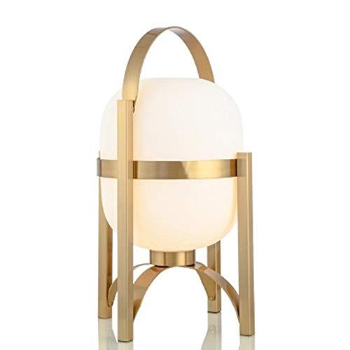 FHUA Lámpara Escritorio Lámpara posmoderna luz Modelo de Lujo de Lujo Sala de Estar Estudio Estudio Plateado Hardware Redondo Vidrio Mesa Creativa lámpara