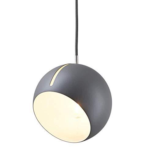Verstellbare Leuchte Pendelleuchte Nordic Geometric Slant Ball Dekoration Deckenleuchte Postmodernen Minimalistischen Restaurant Tisch Bar Runde Kugel Schmiedeeisen Kronleuchter (Farbe: Grau)-Grau