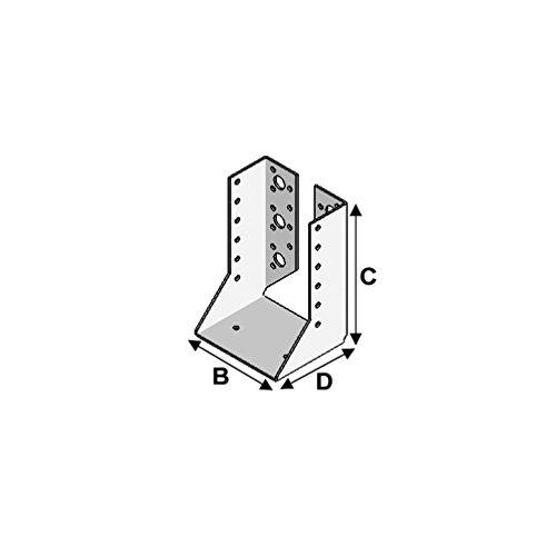 Fixtout - Sabot de charpente à ailes intérieures (P x l x H x ép) 80 x 100 x 170 x 2,0 mm - Fixtout