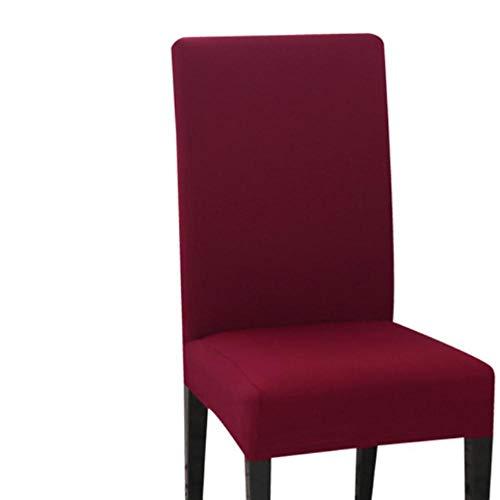 LIMMC 1/2/4/6 fundas de silla de color sólido de elastano, fundas protectoras para silla de escritorio, para comedor, cocina, banquete de boda, color rojo vino, Estados Unidos