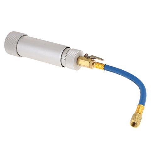 Almencla R12/ R134A-Systeme Auto Öl Füllen Rohr Auto Klimaanlage Öl Farbstoff Injektor, aus Aluminium und Gummi