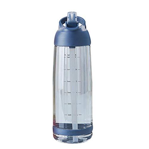 XXDTG PP Taza de Agua, Botella de Aptitud de los Deportes con el Tiempo, Utilizado for medir la Toma de Agua de H2O, Conveniente for el Recorrido de 1000 mm