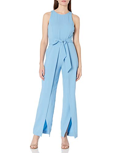 NINE WEST Women's Jumpsuit with Flyaway Pant, Spring Blue, 14