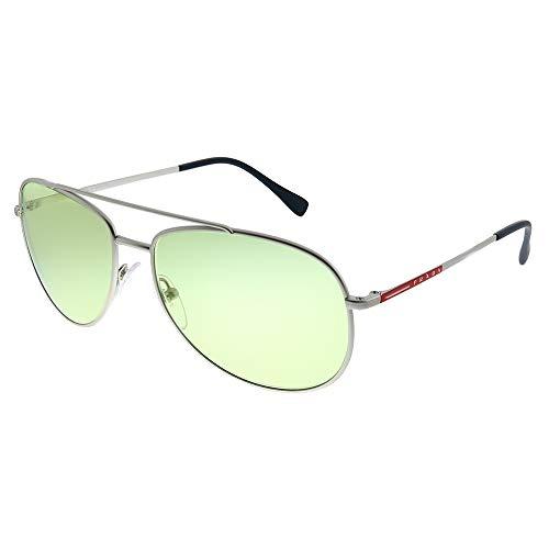 Prada LINEA ROSSA QFP348 Gafas de sol, Silver Rubber, 57 para Hombre