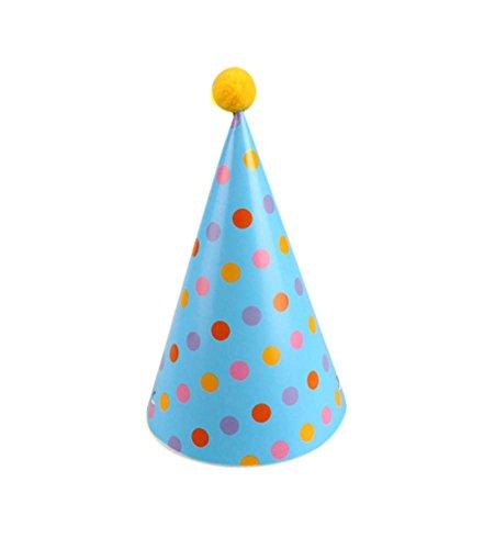 Blancho Dots Colorisées, Fournitures 7Pcs d'anniversaire d'enfants Hat Party Party Hat