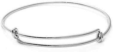 Simple Houston Mall 6'' Adjustable Bangle Child Max 52% OFF Sterling S Bracelet Charm 925