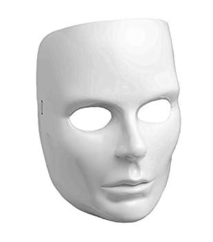Women s White Full Face Mask