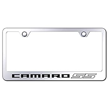 Au-Tomotive Gold INC Chevy Camaro SS License Plate Frame Stainless Steel Laser Etched Metal