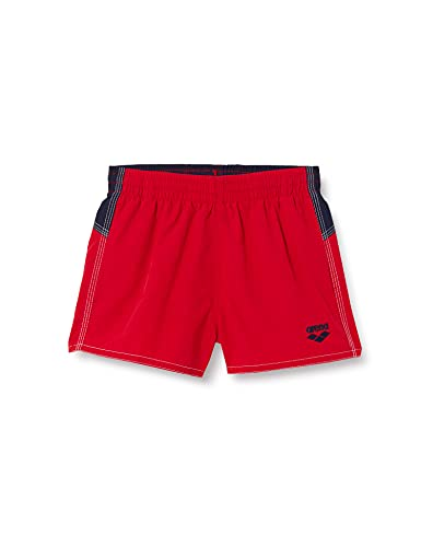 ARENA Bywayx Bicolor Pantaloncino Mare per Bambino, Shiny Red-Navy-White/Rosso, 14-15