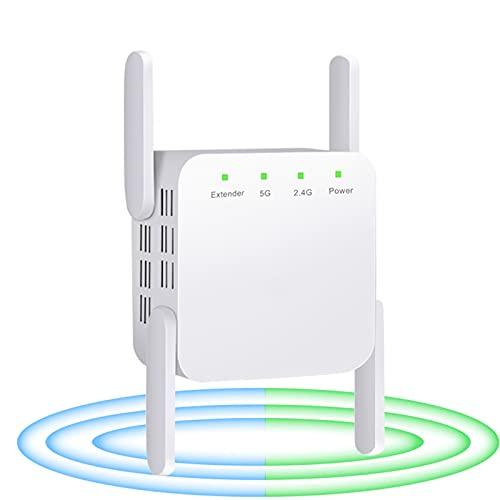 CWAIXXMM 5G WiFi Repetidor WiFi Amplificador Señal WiFi Extender Network Wi Fi Booster 1200Mbps 5 GHz Rango Largo Wi-Fi Wi-Fi Repetidor
