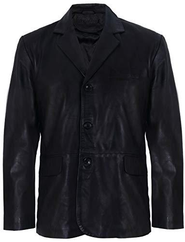 Infinity Leather Blazer de Cuero Genuino de los Hombres Suave Chaqueta Italiana a Medida de la Chaqueta a Medida