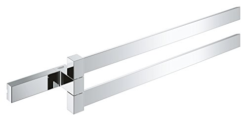 GROHE Selection Cube Bad-Accessoires (Doppel-Handtuchhalter, Material: Metall) chrom, 40768000