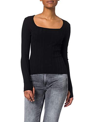 HUGO Damen Steffany 10232996 01 Pullover, Black1, L