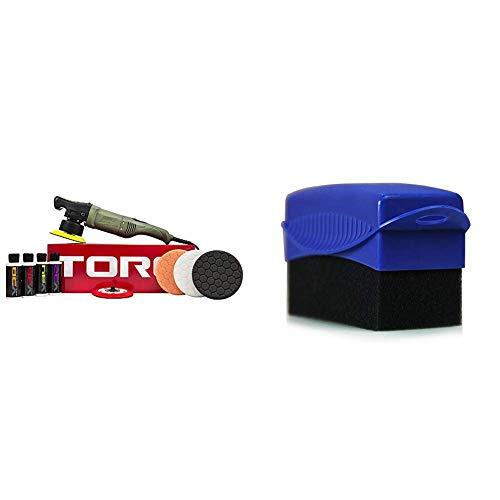 Chemical Guys BUF501X 10FX Random Orbital Polisher Kit (Polisher + 9 Items) with Tire and Trim Contour Applicator