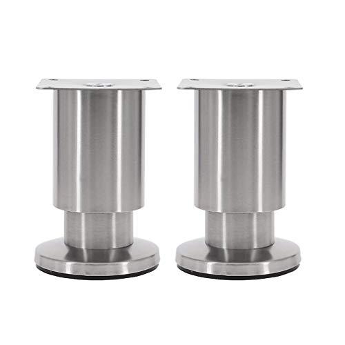 DX meubelvoet voor banken, meubelpoten voor de kast, poten voor de tafel thuis, metaal van roestvrij staal, voetenbankje, tafelpoten, bed met kast, stoelen, hardware-accessoires (12 cm)
