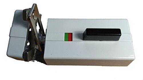 EVVA K900 Tür-Zusatzschloss - Tür Kastenschloss mit Sperrbügel Weiß, Feuerschutz und Rauchschutztüren geeignet, weiß, DIN Links / Rechts, mit 5 Schlüssel + Sicherungskarte, Profi Qualität