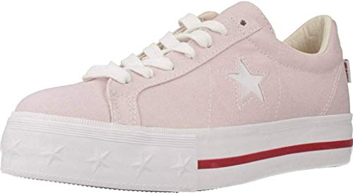 Converse One Star Platform Ox Rose White Red 564506C