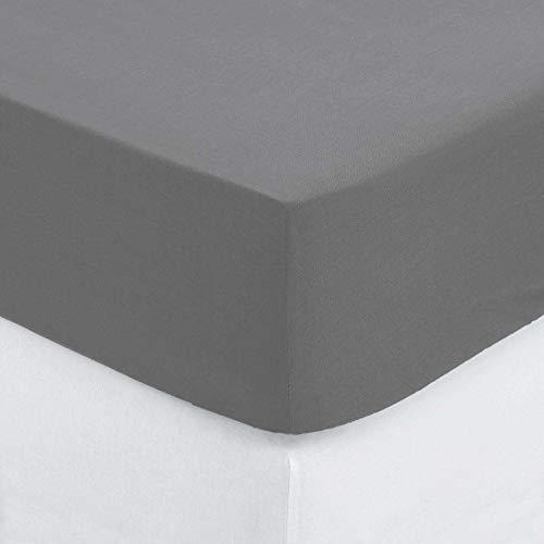 Atmosphera hoeslaken, 90 x 190 cm, grijs