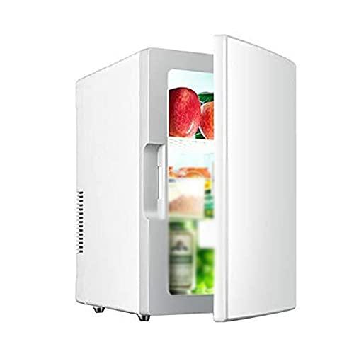 Mini refrigerador de 18 litros portátil AC/DC alimentado refrigerador y calentador puede contener 10 botellas de 550 ml botellas congelador silencioso del coche adecuado para dormitorios