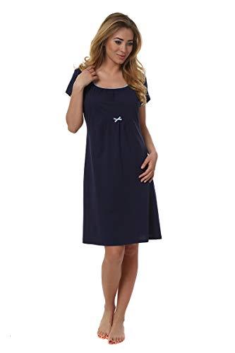 Italian Fashion IF Camicia da Notte Premaman D1GN1 0114 (Blu Scuro, L)